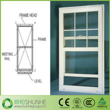 JIN YING Brand new UPVC Vertical Sliding Laminated Glass Window