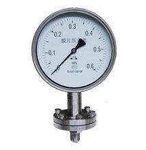 Threaded stainless steel diaphragm pressure gauge