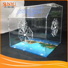 Wholesale Acrylic Luxury Hamster Cage , Transparent Glass Cage For Pet