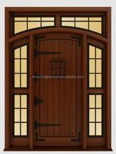 มือแกะสลักไม้ประตูทึบประตูด้านหน้าประตูทางเข้าหลักไม้สีแดง