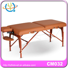 fitmaster massage table in wooden legs/ portable massage bed