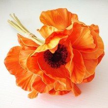 Mini PU Artificial Poppy Flowers