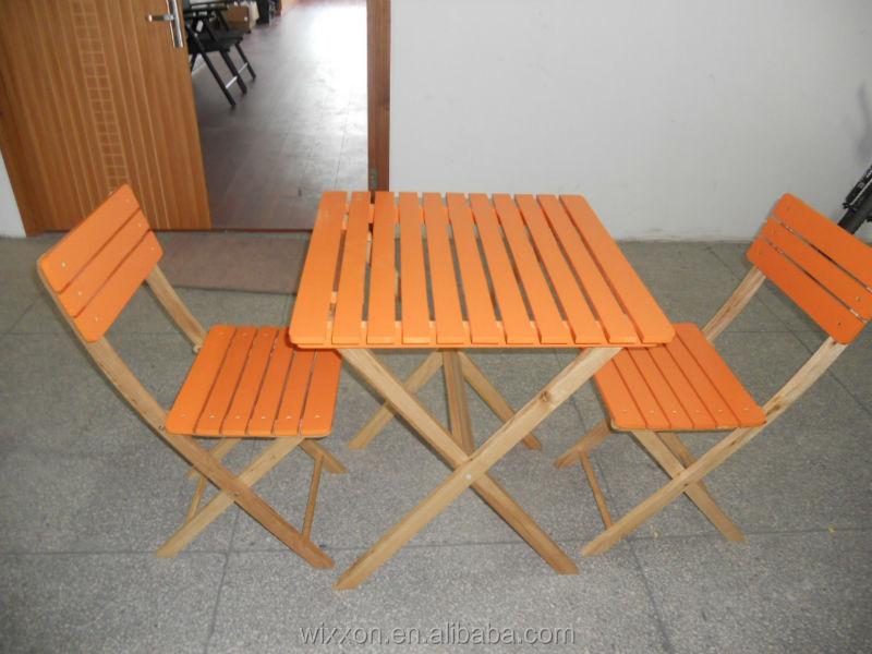 wooden folding garden table set chair set wooden bistro table set