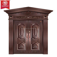 Factory Custom Front Entry Doors, Double Swing Copper Door