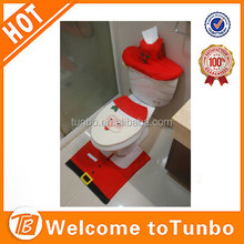 New product for Toilet Christmas decoration High quality 3-pc set of santa toilet seat cover