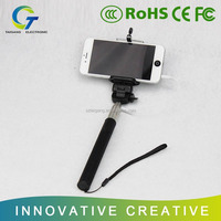 Wired Selfie Stick Handheld Extendable Monopod with Cable Cell Phone Take Pole Camera and Universal Phone Holder