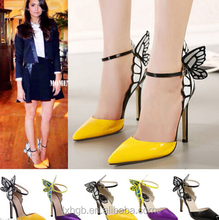 Butterfly Women's Ladies fashion sandal shoes High Heel Pointy Toe Ankle Strap Sandals