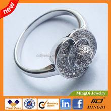 New Designs Diamond Cooper Alloy Ring For Women , fashion design cooper diamond ring for sale