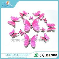 Hot selling 3d butterflies stickers gifts for girls butterfly cutout pattern with CE certificate