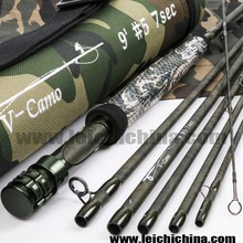 Exclusive camo color carbon fly fishing rod