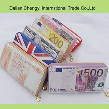 fashiona long flat novelty style banknotes shaped wallets