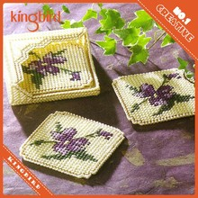 Chinese Craft Supplies Hand Made Embroidery Cup Coaster