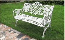 high quality design comfortable waterproof metal mosaic garden bench