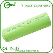 cheap rechargeable nimh aa 600mah 1.2v battery