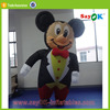 new design inflatable cartoon custom inflatable castle mickey mouse