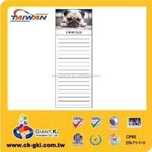 Fridge magnetic cute dog customized shopping list memo pads magnet