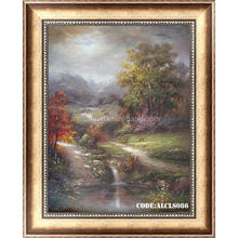 Spring village landscape paintings for wall decoration