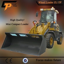 Snow Removing ! high efficiency 1.2 ton mini loader zl-12 with snow bucket