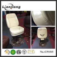 Height adjustable auto-return leather casino bar stool