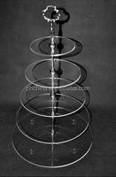customize available 5-tire round circle cake display shelf new cupcake stand