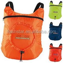 Fold Up Backpack , Custom backpack, polyster promotional backpack
