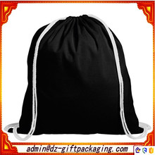Promotional 6oz Black Cotton Drawstring Bag