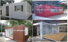 Cheap comfortable steel homes hot sell low cost prefab house wholesale 20ft living prefab container homes
