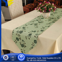 100% Linen wholesale flower napkins fabric painting designs on table cloth