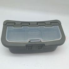 De plástico de cebo de pescado caja de almacenamiento de anti- presión compartimiento de caja de las lombrices de tierra