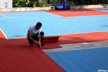 ZSFlor diy sports flooring for basketball/ futsal/ tennis/ volleyball/ badminton courts