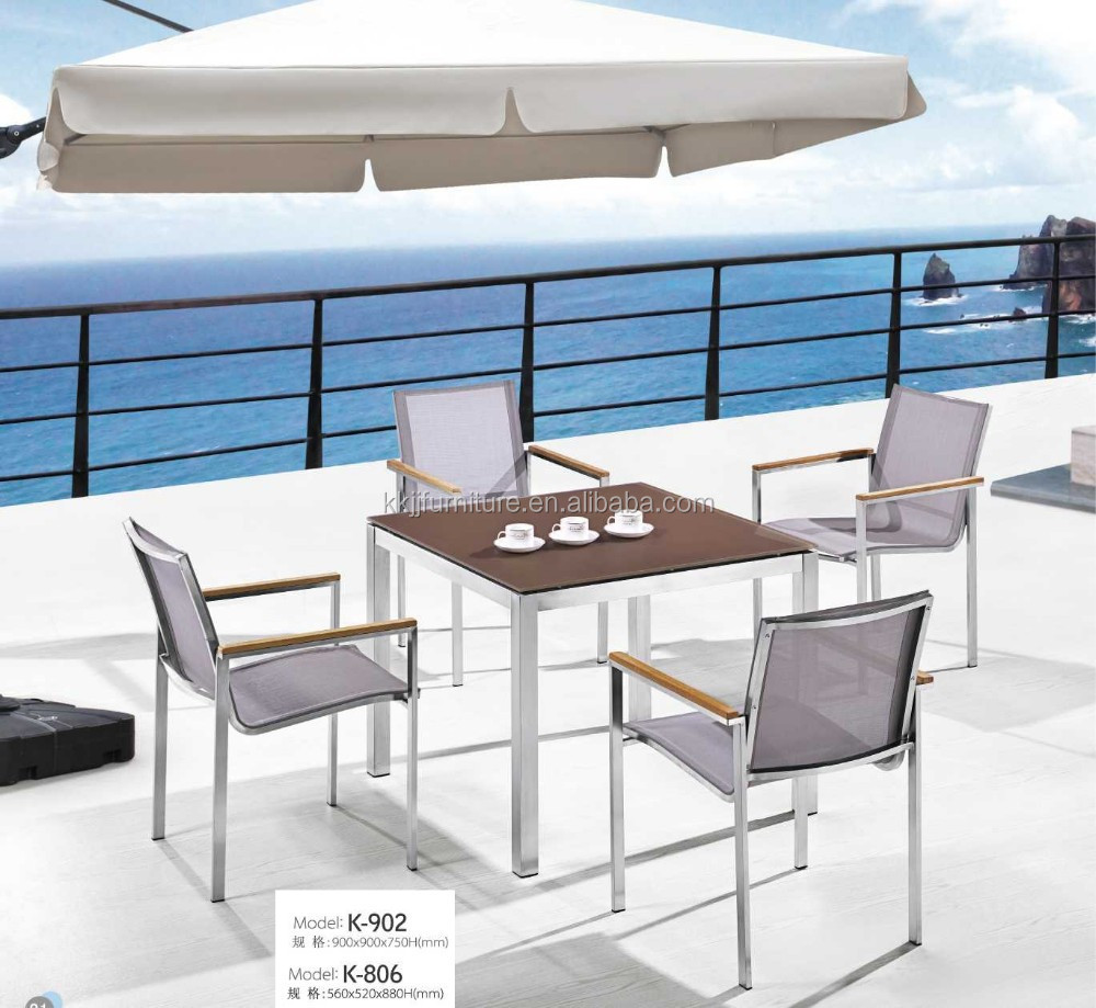 Guangdong modern outdoor furniture garden line patio set for Modern garden furniture