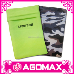 Customized printed cheap lycra arm mobile phone pouch