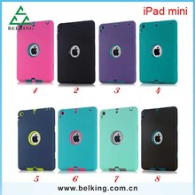 Hybrid 3In1 TPU+PC Tablet Covers Case For iPad Mini Anti-Shock High Quality Case