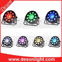 Mini 9+1 dmx LED Flat PAR Light DJ Dance Plastical RGB Stage Lighting
