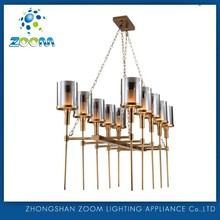 Top quality modern customize copper pendant lamp for restaurant project