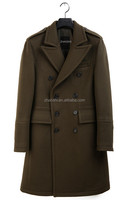 Korean Style High Quality Men's Brown Long Business Wool Cashmere Coat