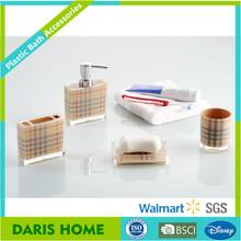 Burberry scarf design bathroom accessories, clear acrylic bathroom accessories