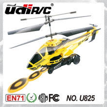 2014 New product shooting frisbee metal RC helicopter toys for kid U825