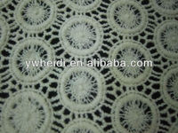 round mesh ball with inside pattern white lace fabric