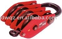 4 wheels rope lifting pulley