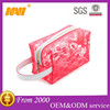 Beautiful lace portable travel pvc cosmetics bag case makeup bag case organizer toiletry bag