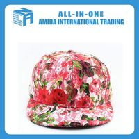 Customize cotton lace cloth flat caps