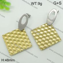 Fashionable Matt Finish Polishsilver jewelry and women's gender stud earring