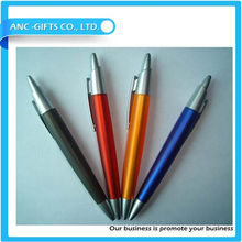 plastic material custom logo ballpoint pen advertising pen for promote sales
