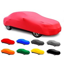 Custom folding car cover sun protection 4-sides stretch Car Cover from china manufacturers