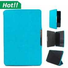 "For Amazon Kindle Fire HDX 7"" inch Magnetic Folio PU Leather Case Stand PC hard Cover"