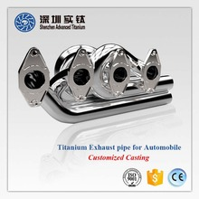 Hot sale titanium/ stainless steel flexible motorcycle/ car exhaust pipe and repair kits