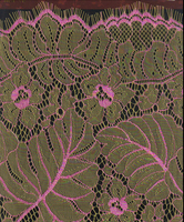 Golden lace fabric in knit ,wholesale eyelet lace fabric