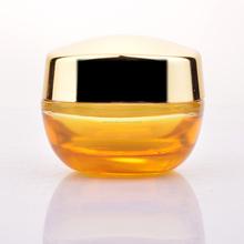 Crème cosmétique pot groupe de luxe cosmétique emballage jaune verre pot