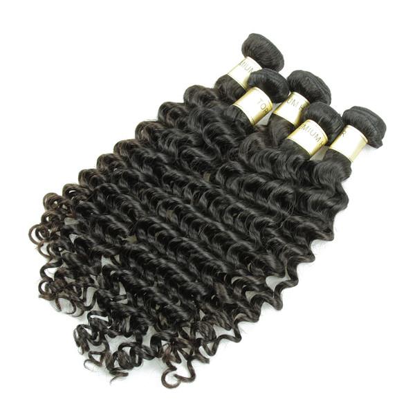 JP embrouillement livraison vague profonde cheveux humains, 12 14 16 18 vierge Peuvian cheveux